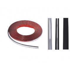 Lišta samolepící gumová chrom, různé velikosti a provedení
