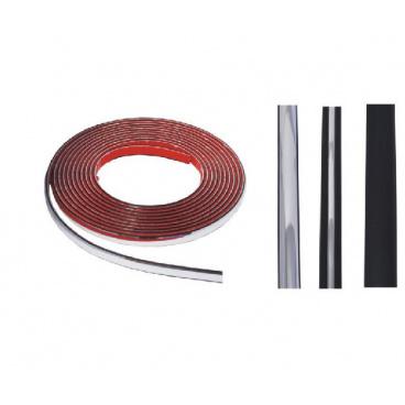 Lišta samolepící gumová chrom, karbon - různé velikosti a provedení