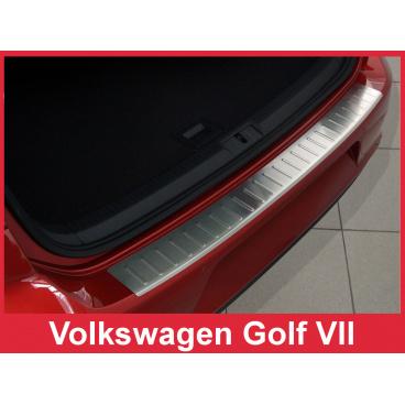 Nerez kryt- ochrana prahu zadního nárazníku Volkswagen Golf VII 2012-17