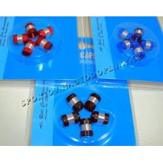 Čepičky na ventilky II červené, modré, černé