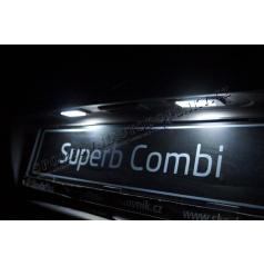 Škoda Superb II Combi Mega Power LED osvětlení SPZ