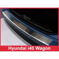 Nerez kryt- ochrana prahu zadního nárazníku Hyundai i40 Wagon 2011-16
