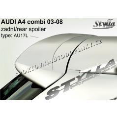 AUDI A4 combi 03+ spoiler zadných dverí horný