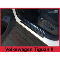 Carbon Fiber ochranné lišty prahu dveří 4ks Volkswagen Tiguan 2 2015+