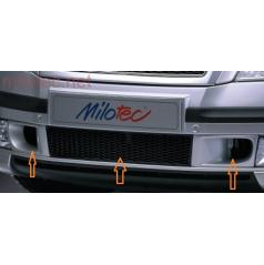 Škoda Octavia II Spodní mřížka nárazníku s bočním sáním - ABS černý, mřížka - černá