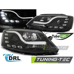 VW Jetta VI 1.2011-  přední čirá světla Tube Light TRU DRL black (LPVWL5)