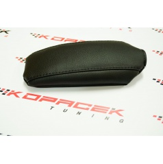 Škoda Fabia III - kožený potah loketní opěrky Jumbo Box - černé prošití
