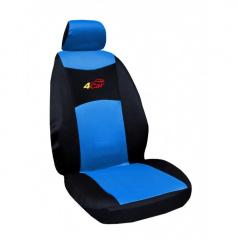 Autopotahy 4Car-Škoda Fabia II-dělená zadní sedačka-modré