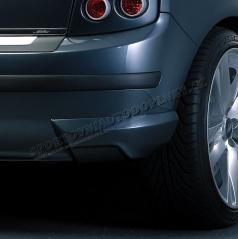 BODY-KIT zadní rozšíření nárazníku, ABS-černý, Škoda Fabia Limousine Facelift