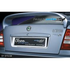 Rámeček registrační značky zadní - chrom Škoda Octavia I