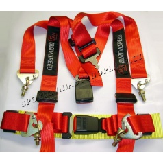 4-bodové bezpečnostní pásy MAZDA SPEED červené