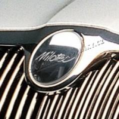 Kryt emblému Milotec - přední, Škoda Superb, Octavia II, Octavia II Facelift, Roomster, Fabia II, Yeti