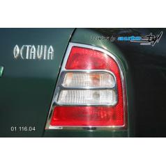 Rámeček zadních světel - chrom Škoda Octavia I 2001+
