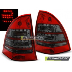 Mercedes C-Klasa W203 Kombi 2000-07 zadní lampy red smoke LED (LDME63)