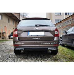 Nástavce zadního difuzoru - RS exhaust alu look Škoda Octavia III