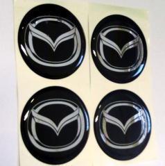 Znak Mazda průměr 55 mm, 4 ks