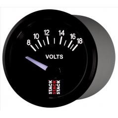 Stack elektronický budík Voltmetr 52 mm ST3216