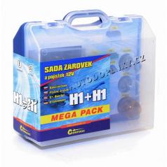 Žárovky náhradní 12V servisní box Mega H1+H1+pojistky