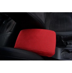 Škoda Octavia III - potah loketní opěrky z pravé Alcantary - red perfo/red