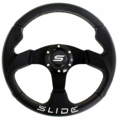 Sportovní volant kožený černý 320 mm