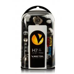 Box žiaroviek UNI 12V / H7 VECTA vr. poistiek
