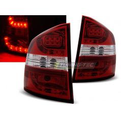 Škoda Octavia 2 kombi 2004-12 zadní LED lampy red white (LDSK03)