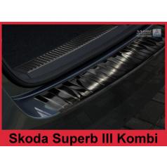 Nerez kryt- černá ochrana prahu zadního nárazníku Škoda Superb III kombi 2015+