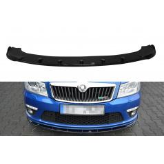 Spoiler pod přední nárazník ver.1 pro Škoda Octavia RS Facelift Mk2, Maxton Design (plast ABS bez povrchové úpravy)