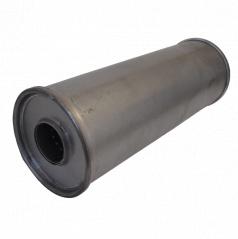 Univerzální ocelový výfukový tlumič š107 x d350mm ( 55 mm vstup)