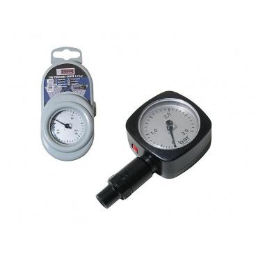Měřič tlaku v pneumatikách plastový 3 Atm.