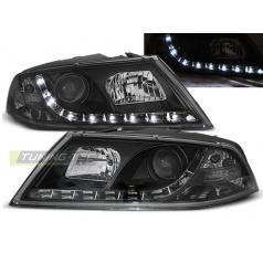 Škoda Octavia 2 03.2004-08 přední čirá světla Daylight black (LPSK08)