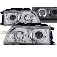 Honda CRX 90-02.92 přední čirá světla Angel Eyes chrome (LPHO16)