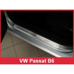Nerez ochranné lišty prahu dveří 4ks Volkswagen Passat B6 2005-10
