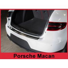 Nerez kryt- černá ochrana prahu zadního nárazníku Porsche Macan 2014+