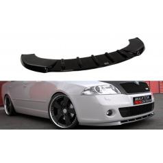 Spoiler pod přední nárazník RS před faceliftem pro Škoda Octavia RS Mk2, Maxton Design (černý lesklý plast ABS)