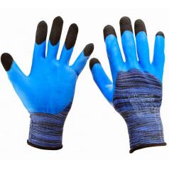 Pletené pracovní rukavice s latexovou horní částí  vel. 10