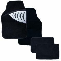 Autokoberce textilní - Shark - univerzální stříbrné