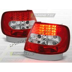 AUDI A4 (B5) 1994-00 ZADNÍ LED LAMPY RED WHITE (LDAU02)
