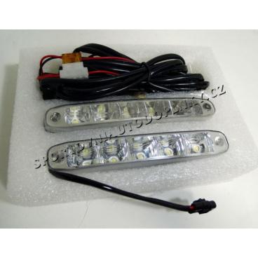 Světla pro denní svícení 5 vekých led 155x22 mm