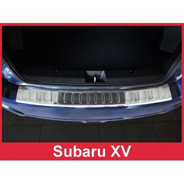Nerez kryt- ochrana prahu zadního nárazníku Subaru XV 2012-16