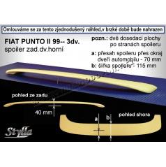 FIAT PUNTO II 3D (99+) spoiler zad. dveří horní (EU homologace)