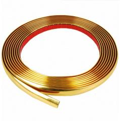 Lišta samolepící zlatá 9, 12 a 14 mm