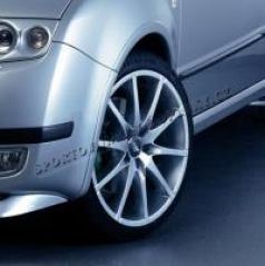 Lemy blatníků, ABS stříbrný matný, Škoda Fabia Combi/Sedan