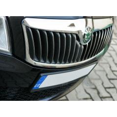 NEREZ chrom výplně masky - OMSA LINE Škoda Octavia II Facelift 09-12