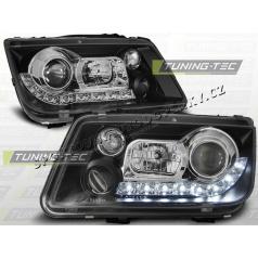 VW BORA 1998-05 PŘEDNÍ ČÍRÁ SVĚTLA DAYLIGHT LED BLACK (LPVWE9)