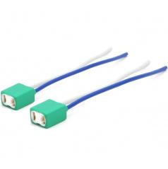 Keramická pätica H7 / 2 ks - 15 sm kábel