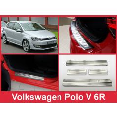 Nerez kryt- sestava-ochrana prahu zadního nárazníku+ochranné lišty prahu dveří VW Polo V 6R 2009-14