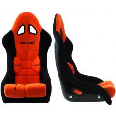 Sportovní pevná skořepina SLIDE GT černá/červená (FIA homologace)
