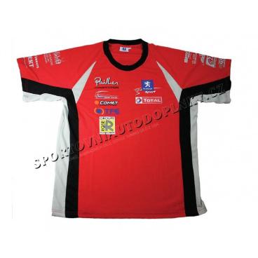 Oficiální Peugeot Rally Team - edice Pailler - Týmové triko s krátkým rukávem WRC