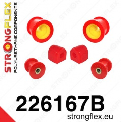 Audi TT 2007-... StrongFlex sestava silentbloků jen pro přední nápravu 6 ks